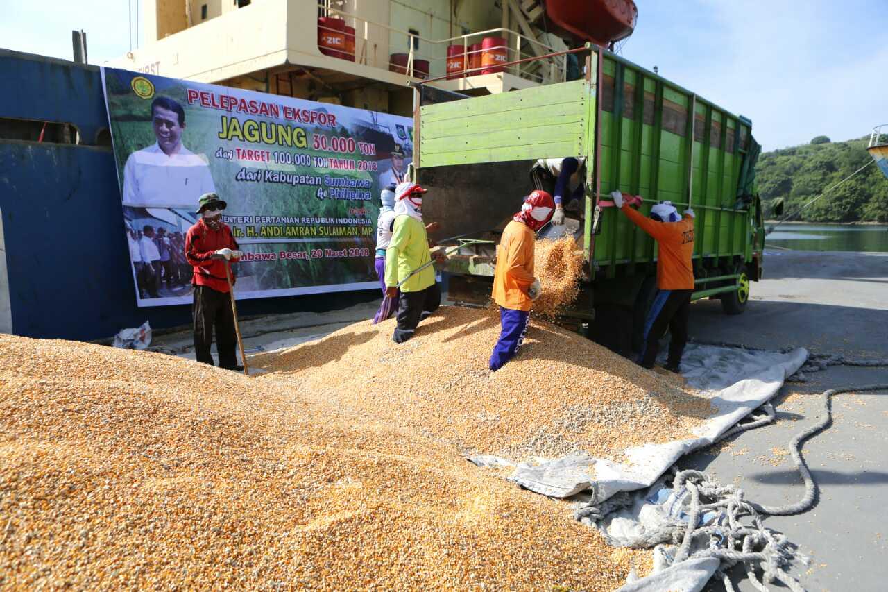 Ekspor Jagung dari Kabupaten Sumbawa ke Filipina