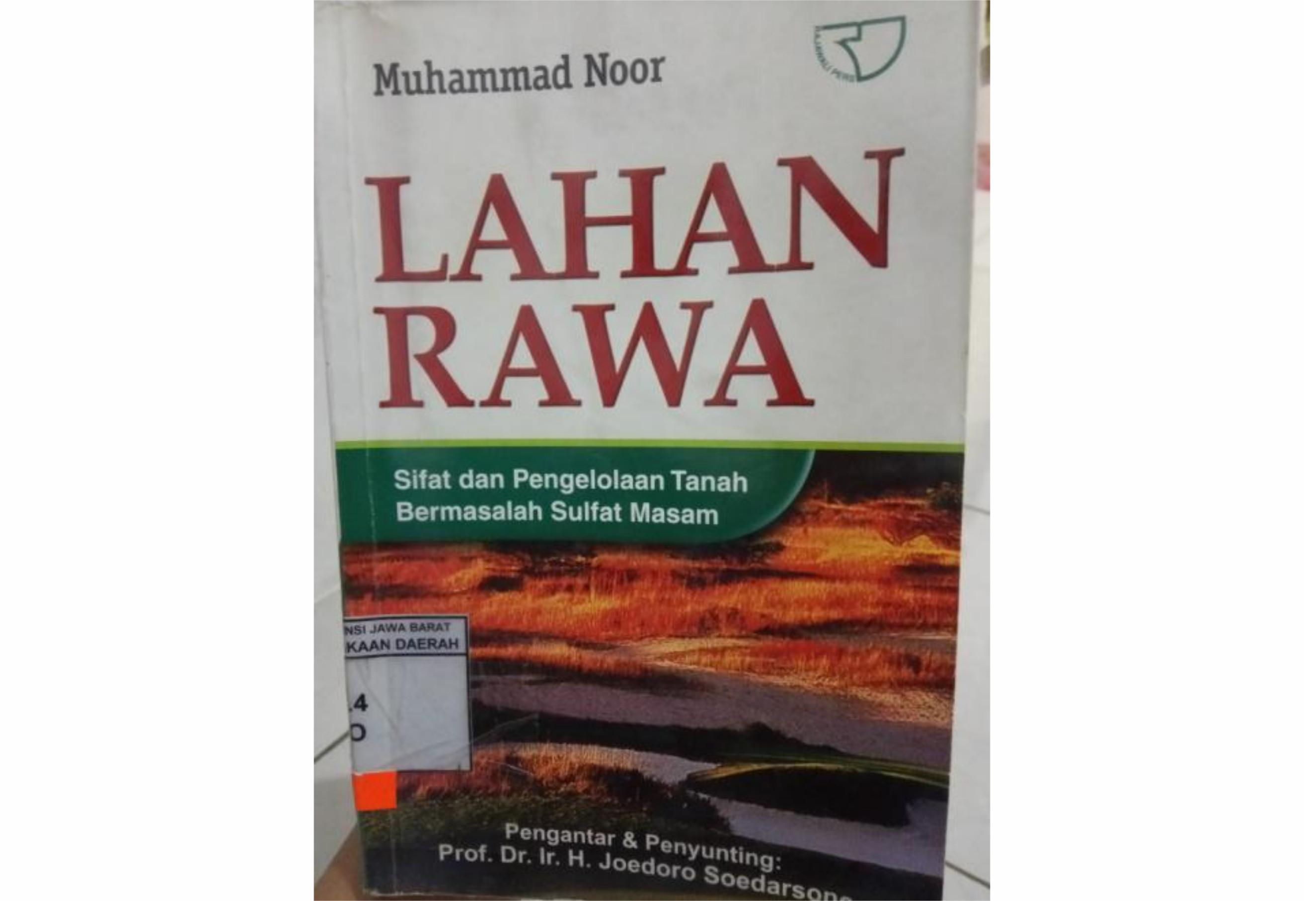 Buku Lahan Rawa Sulfat Masam - Muhammad Noor