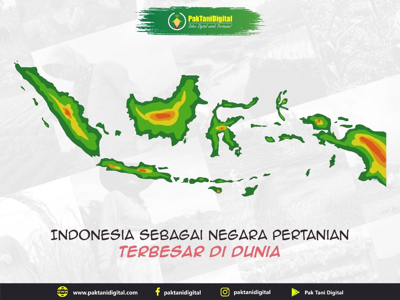Indonesia sebagai salah satu negara agraris terbesar di dunia