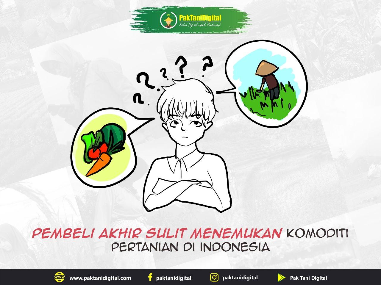Pembeli sulit menemukan komoditi pertanian di Indonesia