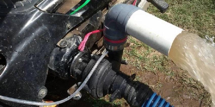 Cara Memanfaatkan Sepeda Motor sebagai Pompa Air
