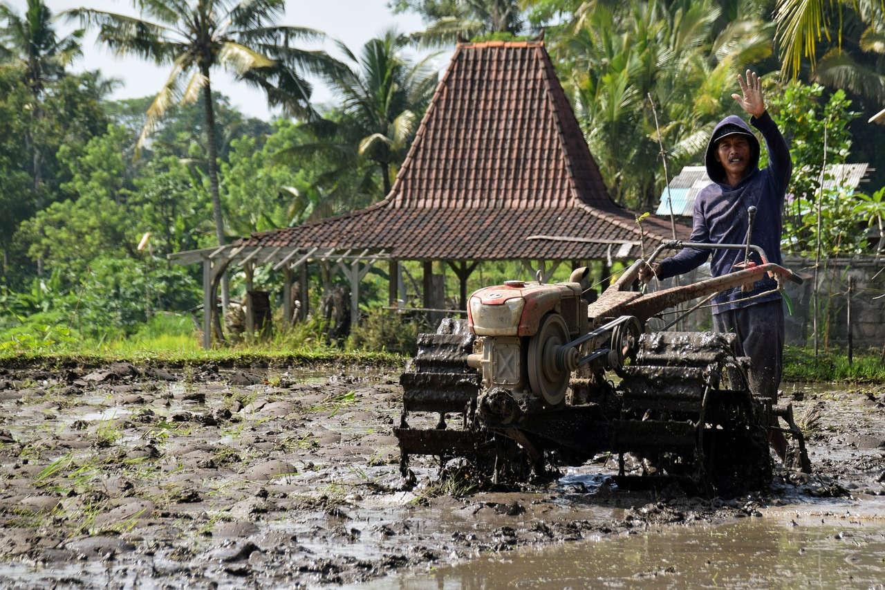 Traktor yang digunakan Petani