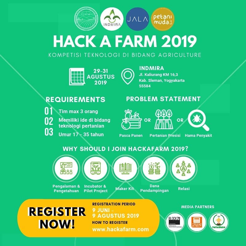 Hack A Farm 2019 - Kompetisi Teknologi Di Bidang Agriculture