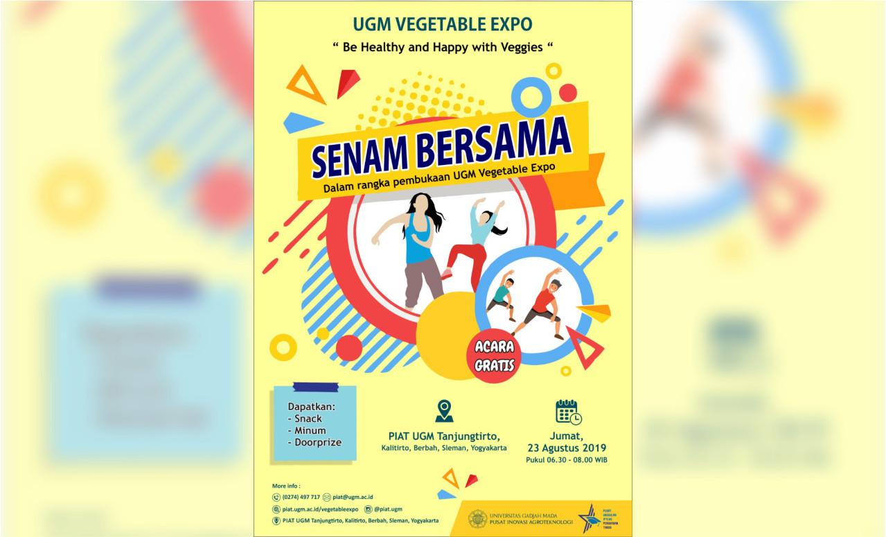 Senam Bersama UGM Vegetable Expo