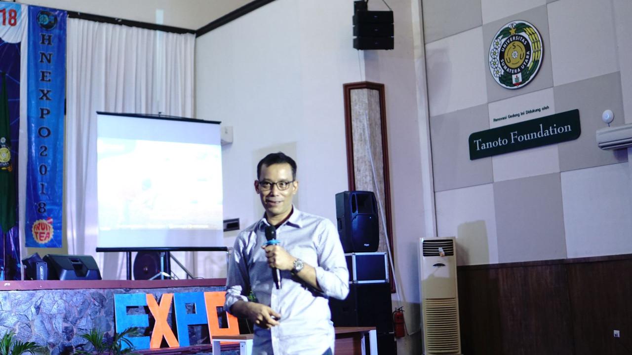 Founder Pak Tani Digital Mahendra Sitepu @HN EXPO 2018