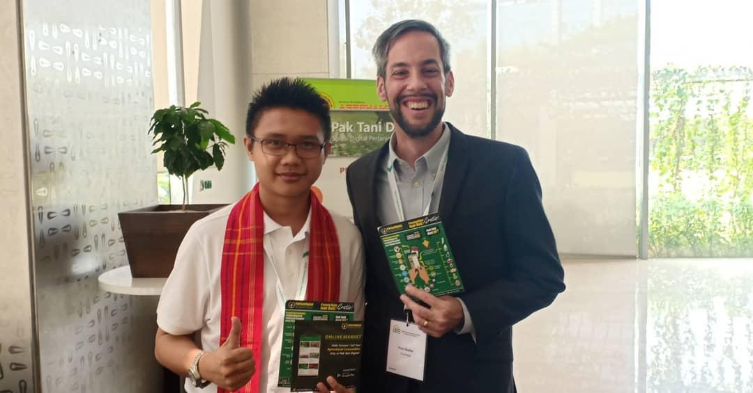 CEO Pak Tani Digital (Kris Pradana) dengan Paul Voutier dari Grow Asia