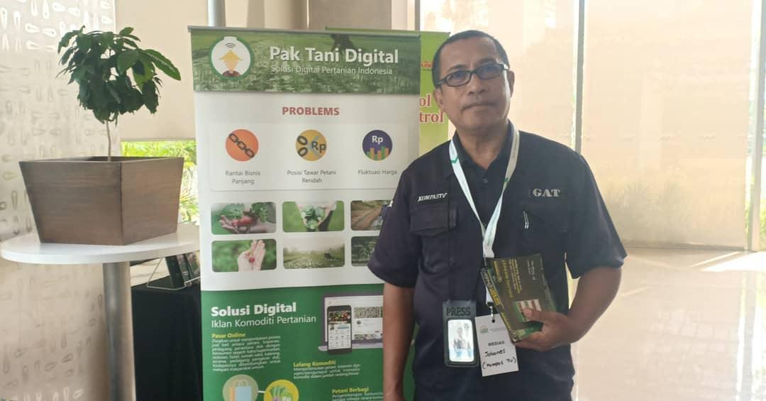 Booth Pak Tani Digital dikunjungi oleh Kompas TV