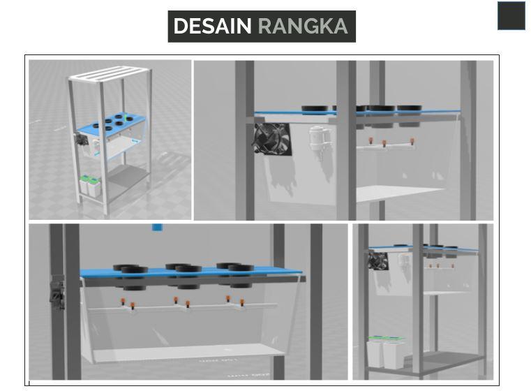 Desain Rangka Sistem Aeroponik Budidaya Kentang