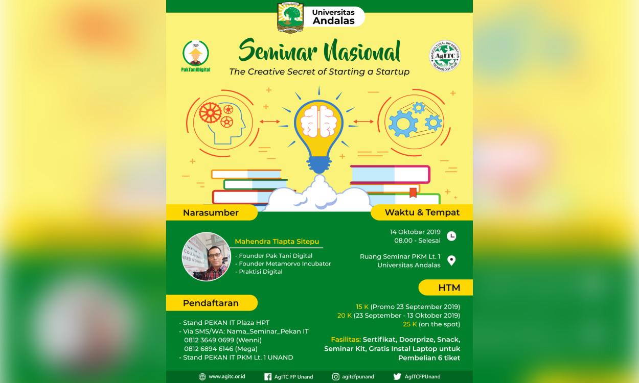 Seminar PTD x AgITC Universitas Andalas