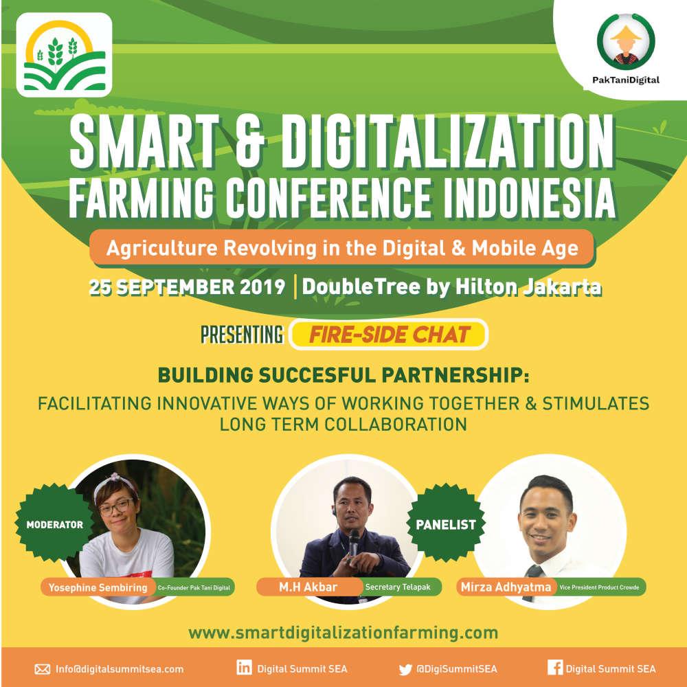 Pak Tani Digital Menjadi Moderator di Sesi Acara Smart & Digitalization Farming Conference Indonesia