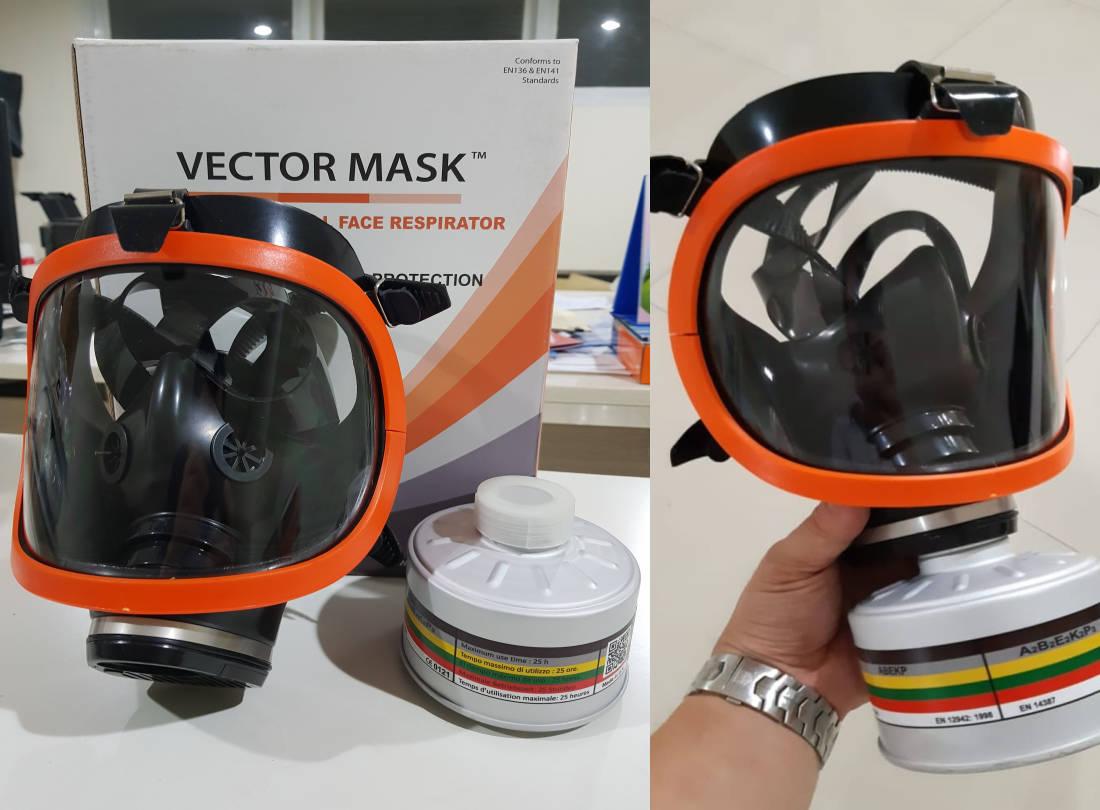 Full Face Mask VECTOR MASK, Masker Fumigasi Pelindung Pernapasan