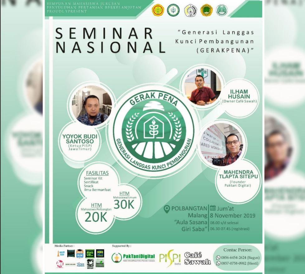 Seminar Nasional Oleh Polbangtan Malang