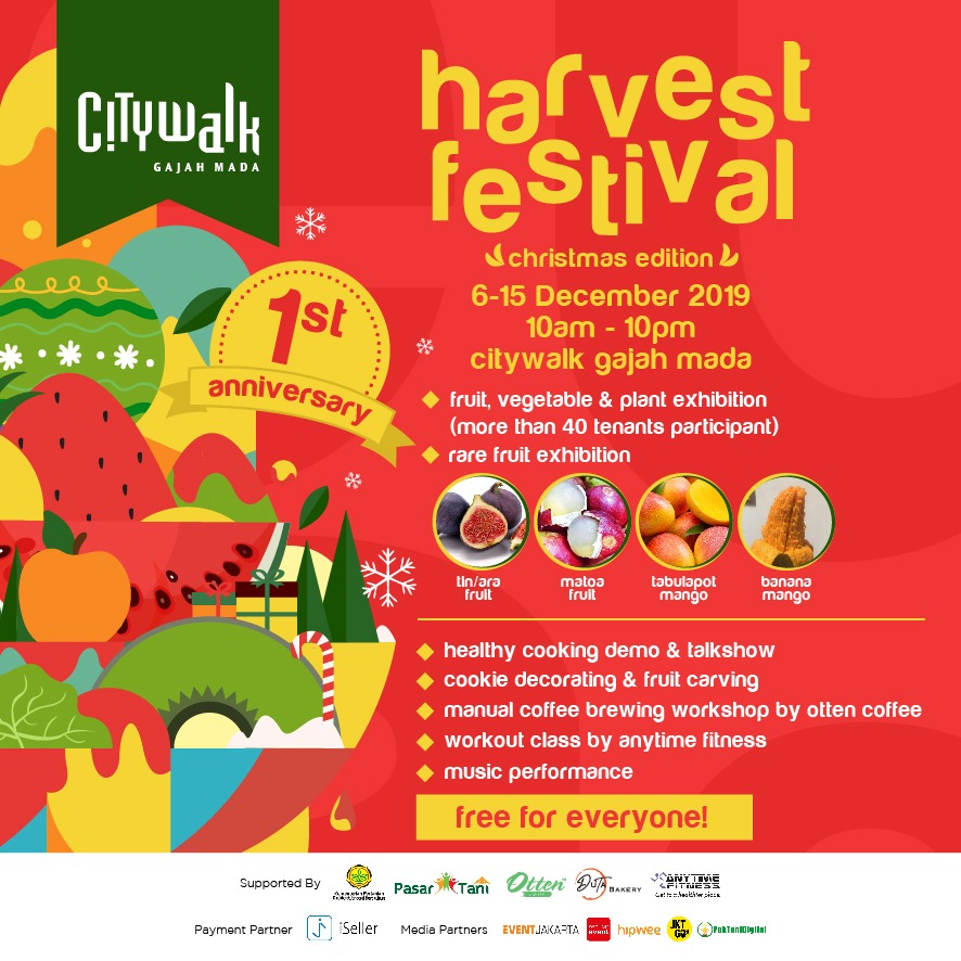 Poster Harvest Festival Citywalk Gajah Mada