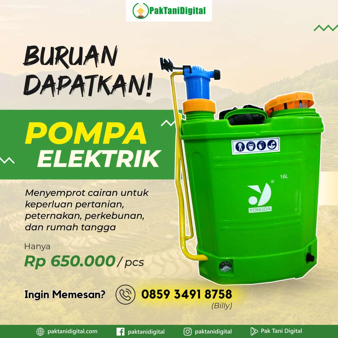 Pompa Elektrik Yongda - Pak Tani Digital