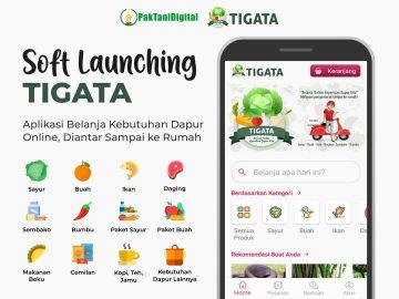 Soft Launching Aplikasi TIGATA, Belanja Online Kebutuhan Dapur